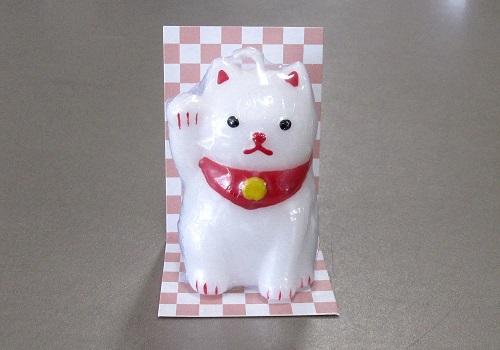 ◆福びよりキャンドル 招き猫 ローソク
