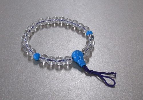 ●腕輪念珠 水晶トルコ石仕立