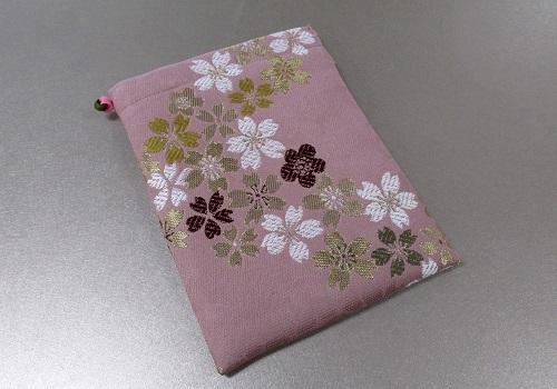 □御朱印帳ケース 小 ��5 流れ桜・ピンク ※在庫処分特価品