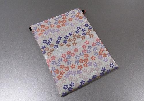 ◆御朱印帳ケース 小 ��1 花花 白/薄紫・ピンク