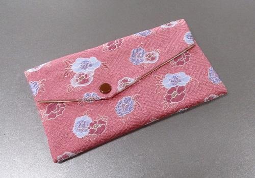 ○念珠袋 西陣織 ピンク