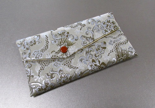 ○念珠袋 西陣織 龍 銀