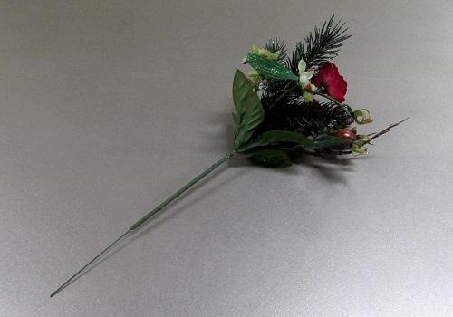 ◆造花 クリスマスローズピック 赤