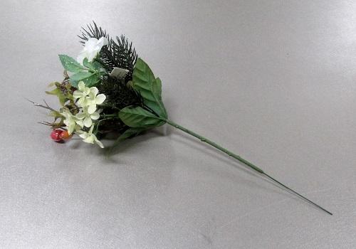 ●造花 クリスマスローズピック 白