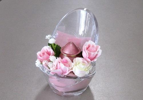 ◆ミニ骨壺 チェアアノーン アーティシャルセット ピンク