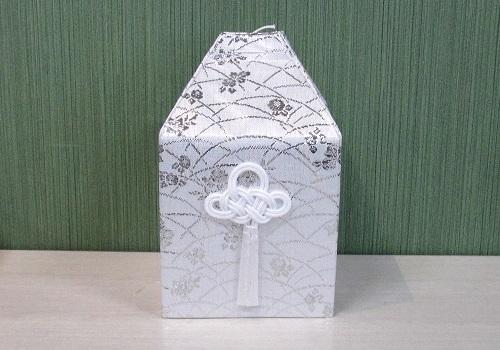 ◆四角骨覆 桔梗覆 骨袋四角かぶせタイプ 4.0寸用 銀