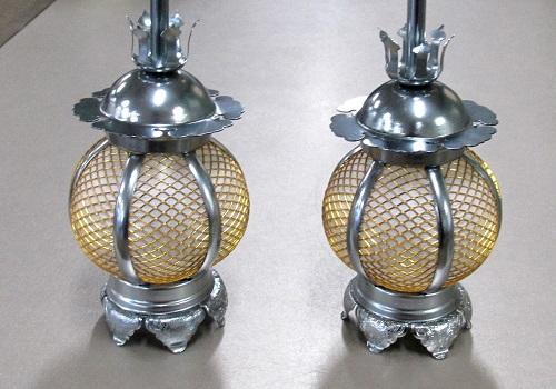 ◆アルミ 院玄吊灯籠  新丸 小型 イブシ銀