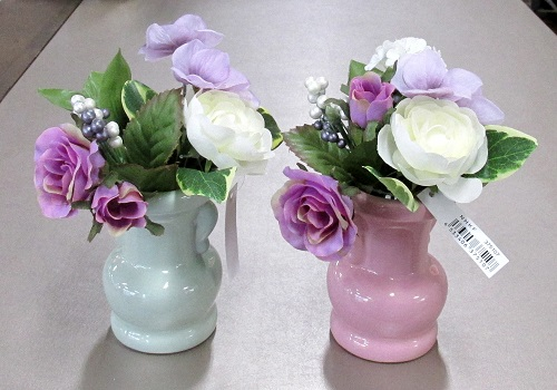 ★造花 ローズミニブーケ 紫