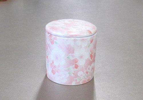 ◆骨壺・骨壷 シリコン付骨カメ 2.0寸 桜ころも ピンク