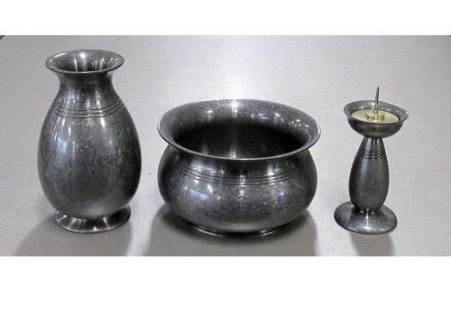 ●仏具3具足 はるか 3.5寸 朧銀