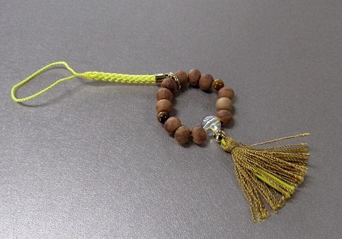 ◆欅身代わり数珠 根付&ストラップ 虎目石