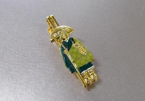 ☆輪袈裟・わげさ止め カラー大師 特製柄入 緑