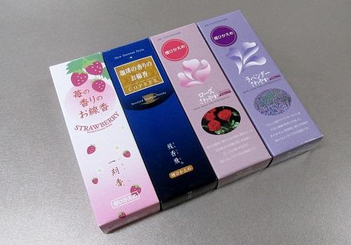 ■煙の少ないお線香 贈答用4箱詰合せ 【梅栄堂】