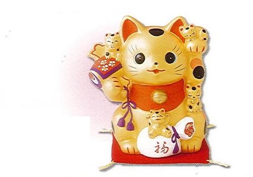 ◇金運猫づくし招き猫 貯金箱