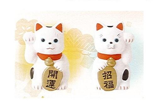 ◇笑門招き猫 貯金箱 右・左セット