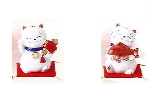 ◇福呼び招き猫 福槌・大漁セット 磁器