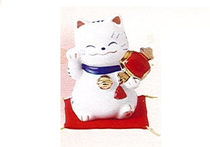 ◇福呼び招き猫 福槌 磁器