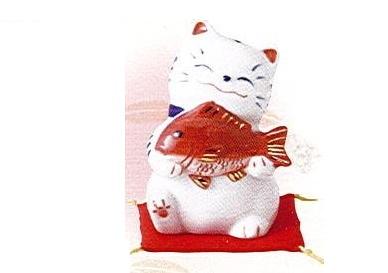 ◇福呼び招き猫 大漁 磁器