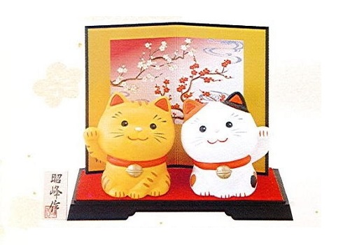 ◇幸せ招き猫 小 みけ・とらセット