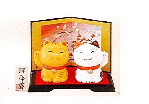 ◇幸せ招き猫 特小 みけ・とらセット