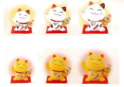 ◇幸せ招き猫 ちりめん 貯金箱 大・中・小 3個セット