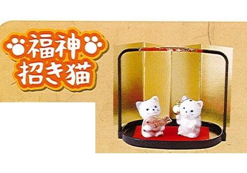 ◇福神招き猫 染付招き猫 エビス・大国 (磁器)