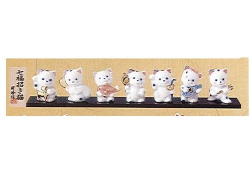 ◇福神招き猫 招き猫七福神 (磁器)