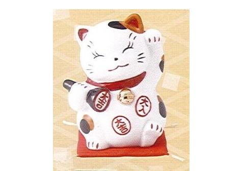 ◇財福招き猫 大 太鼓判 (磁器)