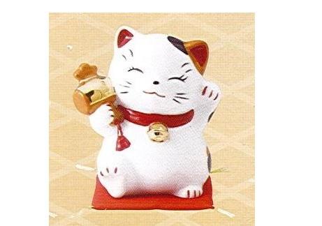 ◇財福招き猫 大 福槌 (磁器)