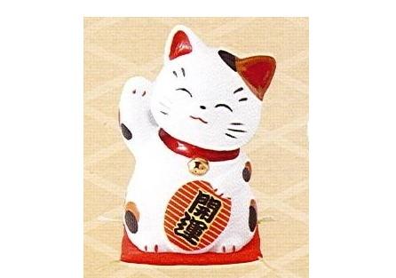 ◇財福招き猫 大 小判持ち (磁器)