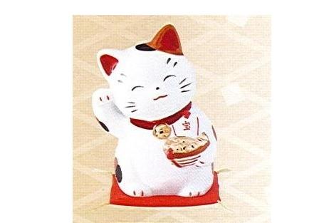 ◇財福招き猫 大 宝船 (磁器)