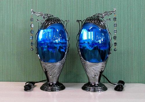◆霊前灯 エスプリ ブルーブラック バブル灯