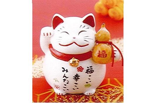 ◇幸福招き猫 (磁器) 千成・福槌・両手招き 3個セット