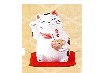◇財福招き猫 宝船 (磁器)