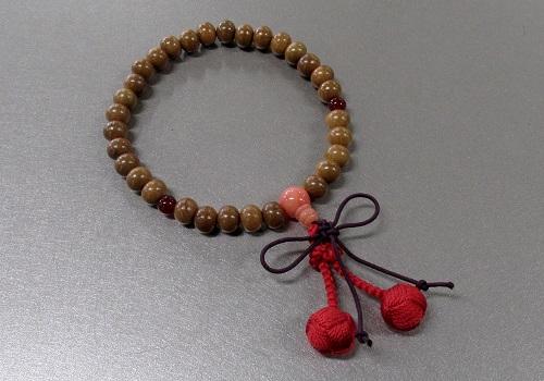 ◆子供用念珠・数珠 こどもじゅず 正梅 正紐結び梵天