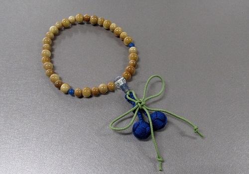 ◆子供用念珠・数珠 こどもじゅず 柘植 正紐結び梵天