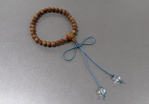 ○子供用念珠・数珠 こどもじゅず 欅 正紐結び