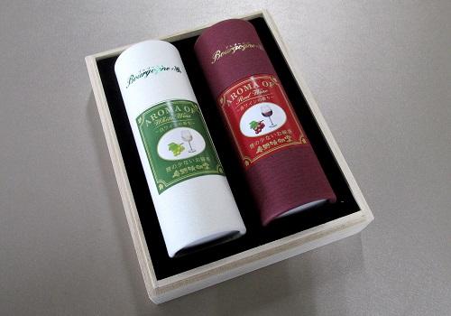 ◆煙の少ないお線香 Bourgogneの風 ワインの香り2本入 桐箱入