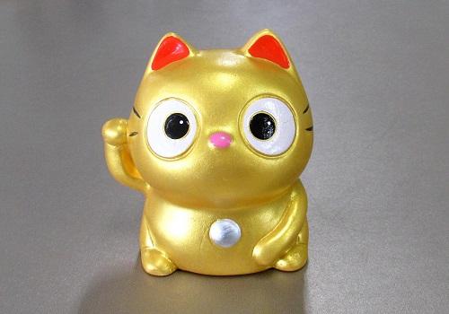 ◆ぱっちりおめめ招き猫 金