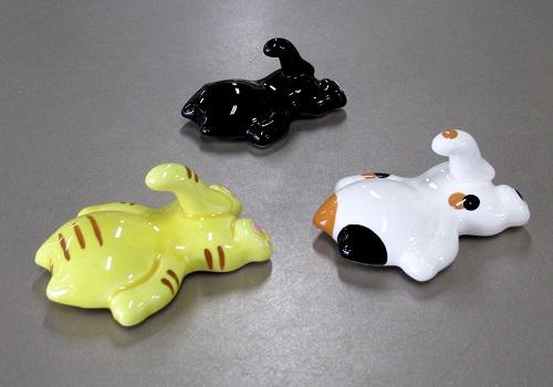 ◆ぺったんこ猫 マグネット 3個セット