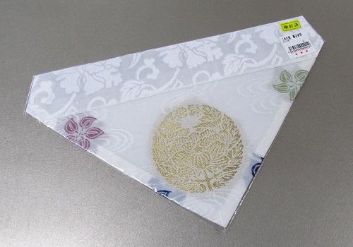 ◆夏用三角打敷 紗 50代 八つ藤紋入 真宗大谷派(東)用
