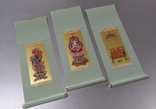 ●仏壇用掛軸 もえぎ 大 真言宗用 三幅