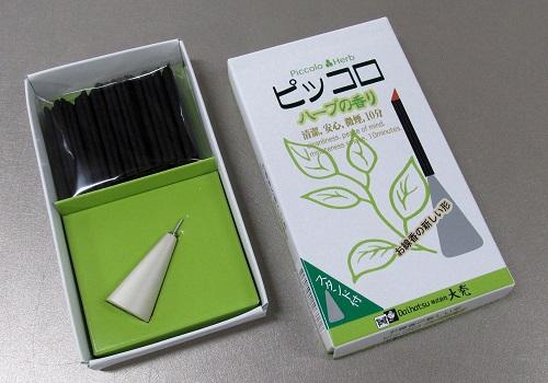 □煙の少ないお線香 ピッコロ 30本入スタンド付 【大発】 ※在庫処分特価品