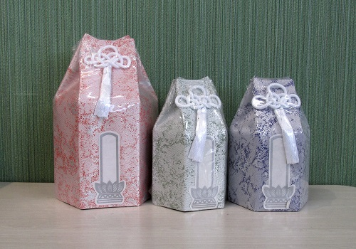 ◆六角骨覆 骨袋六角 3.0寸用 瑠璃光 分骨袋