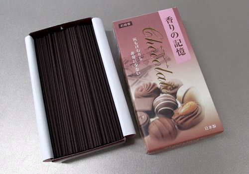 ◎煙の少ない・灰の少ないお線香 香りの記憶 チョコレート 【孔官堂】