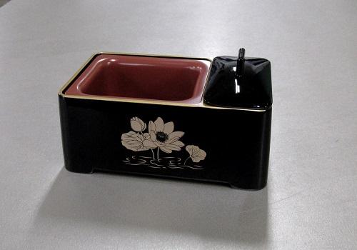 ●じあい香炉・慈愛香炉 黒フチ金蓮