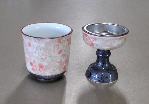 ◆花摘 仏器・茶湯器セット 有田焼 雅桜