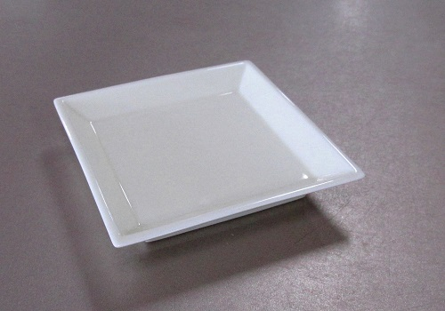 ◆御香皿 四方香皿 クリーム色