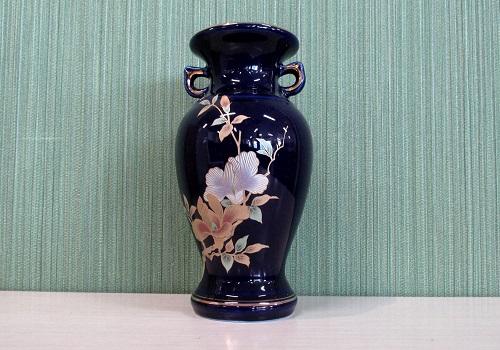 ◆花瓶・サギ型花立 ルリ木蓮サギ 6.0寸
