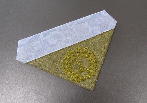 □三角打敷 綴駒 機械刺繍 20代 浄土真宗用